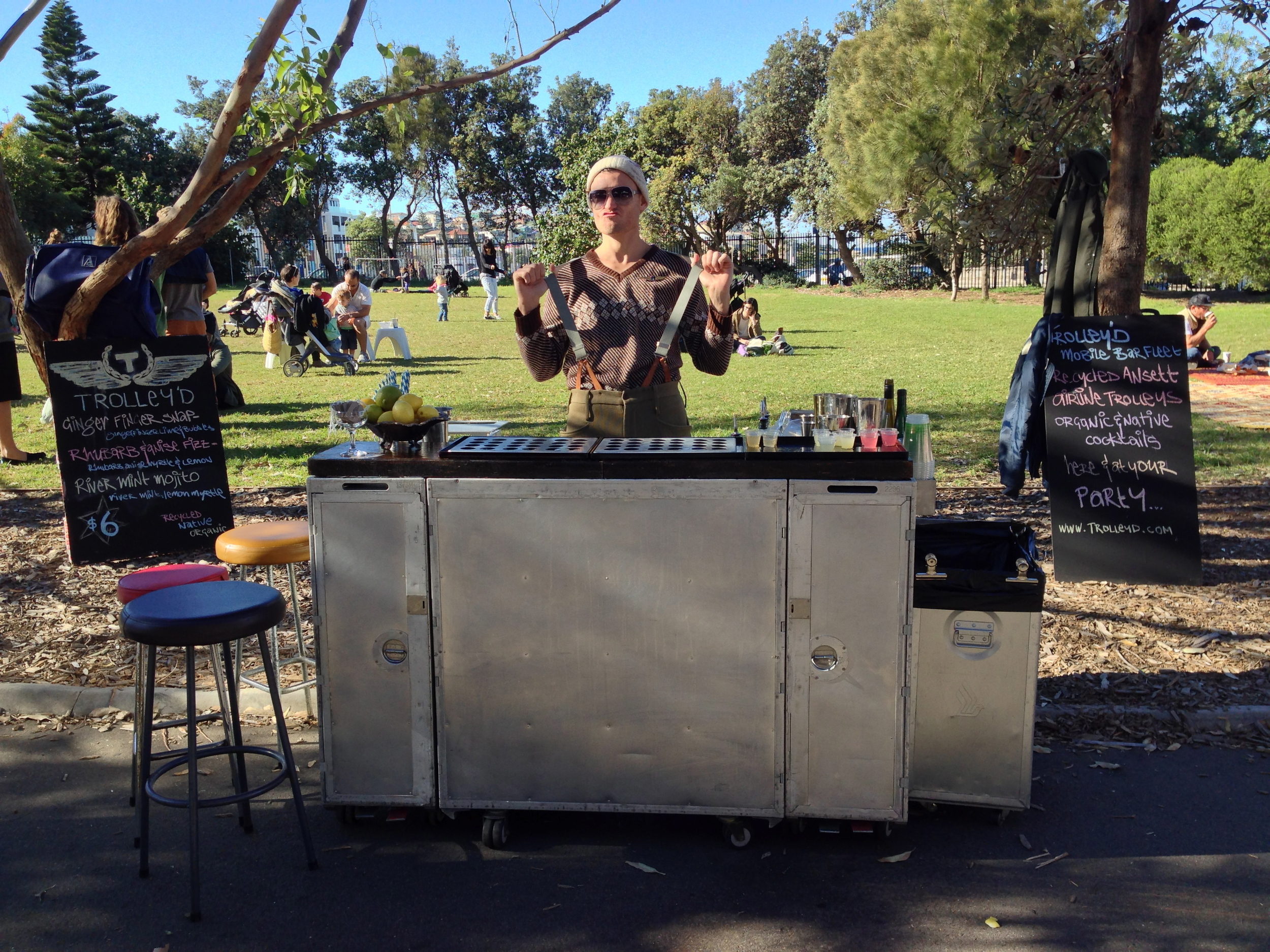 Bondi Growers Markets on a Saturday morning in the sunshine