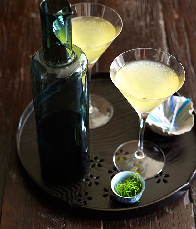 Kaffir Lime & Green Apple Martini