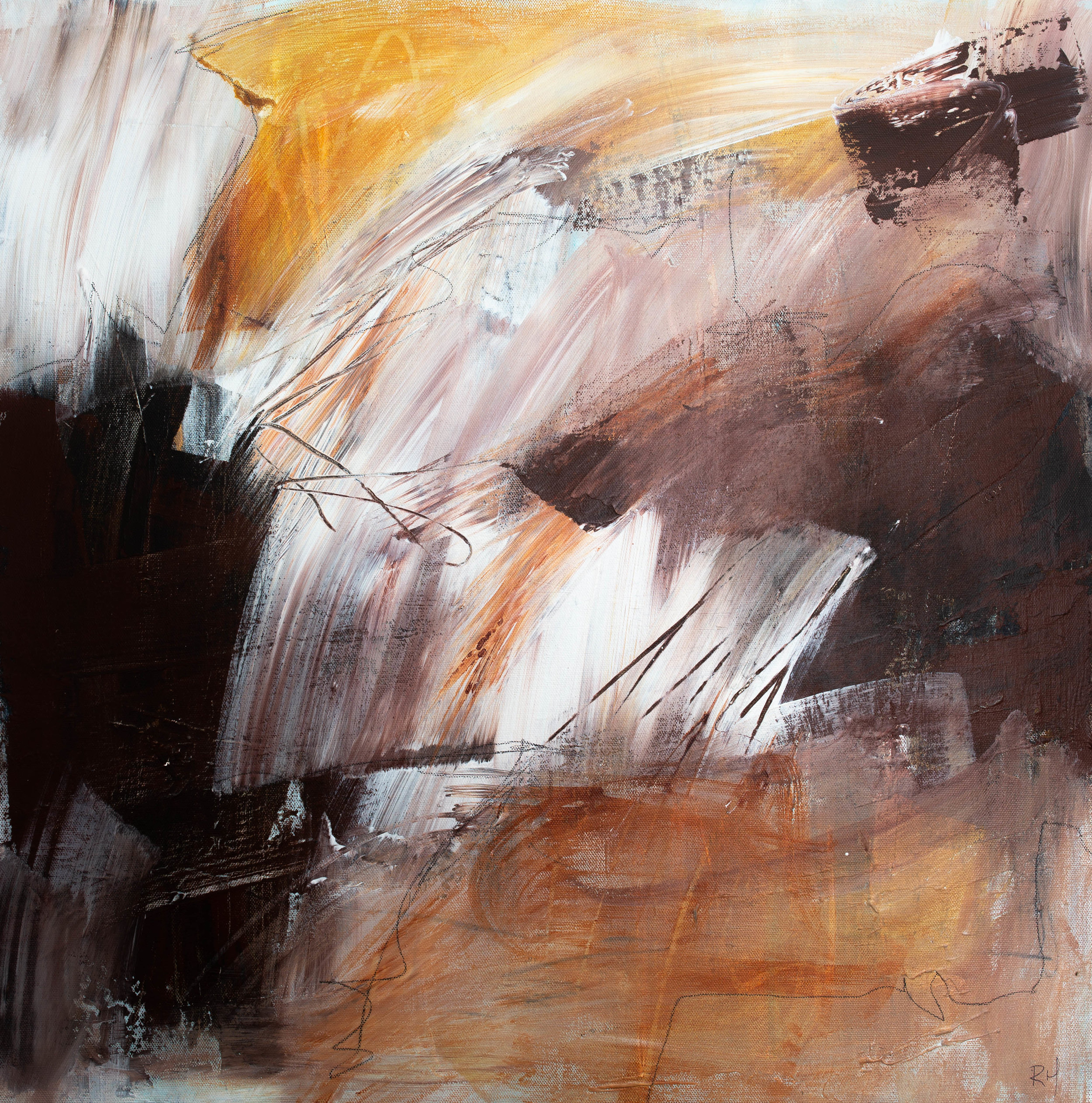 WEATHERING THE STORM  60 X 60 X 3CM  $350   CLICK HERE FOR ENQUIRY