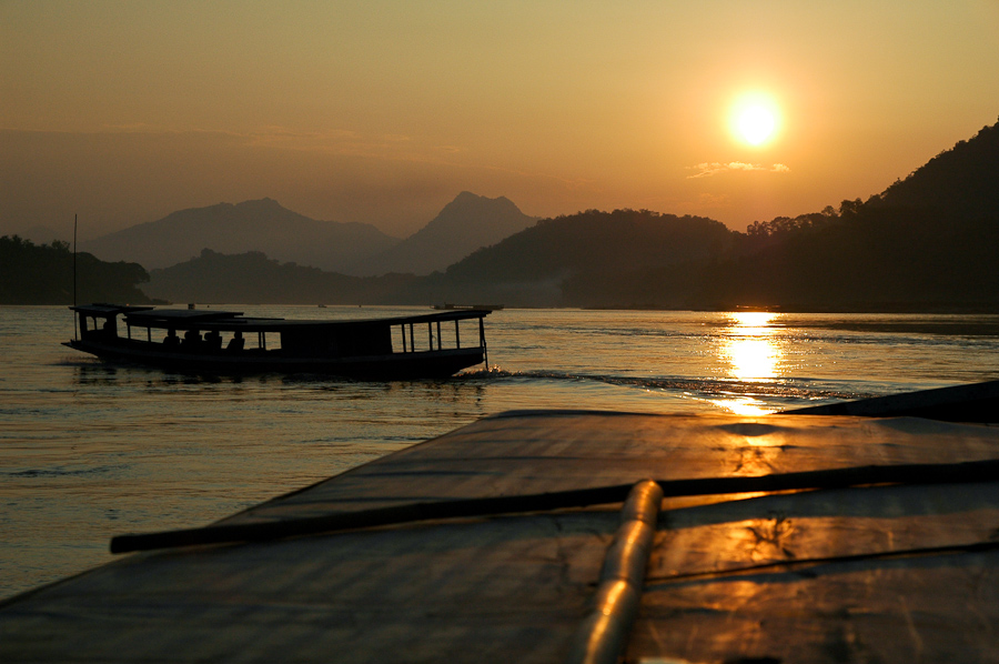 A view from the Mekong River near Luang Prabang, Laos.