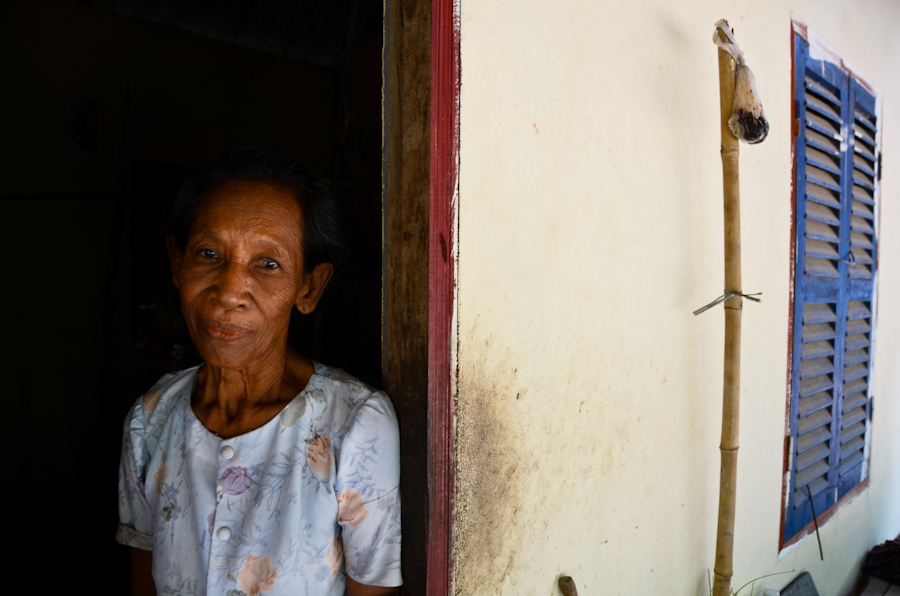 Pring Am turned to begging on the main street of her village when her adult son could no longer afford to care for her.