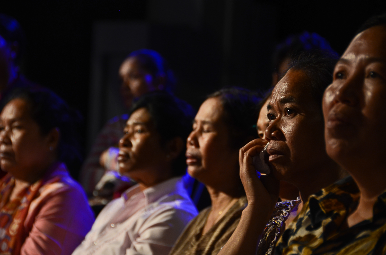 Audience members watch a taping of the Cambodian reality television show, 'It's Not a Dream.' The show re-unites families separated by the Khmer Rouge. Many among the audience have been through similar experiences.