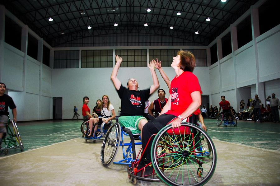 Basketball on wheels