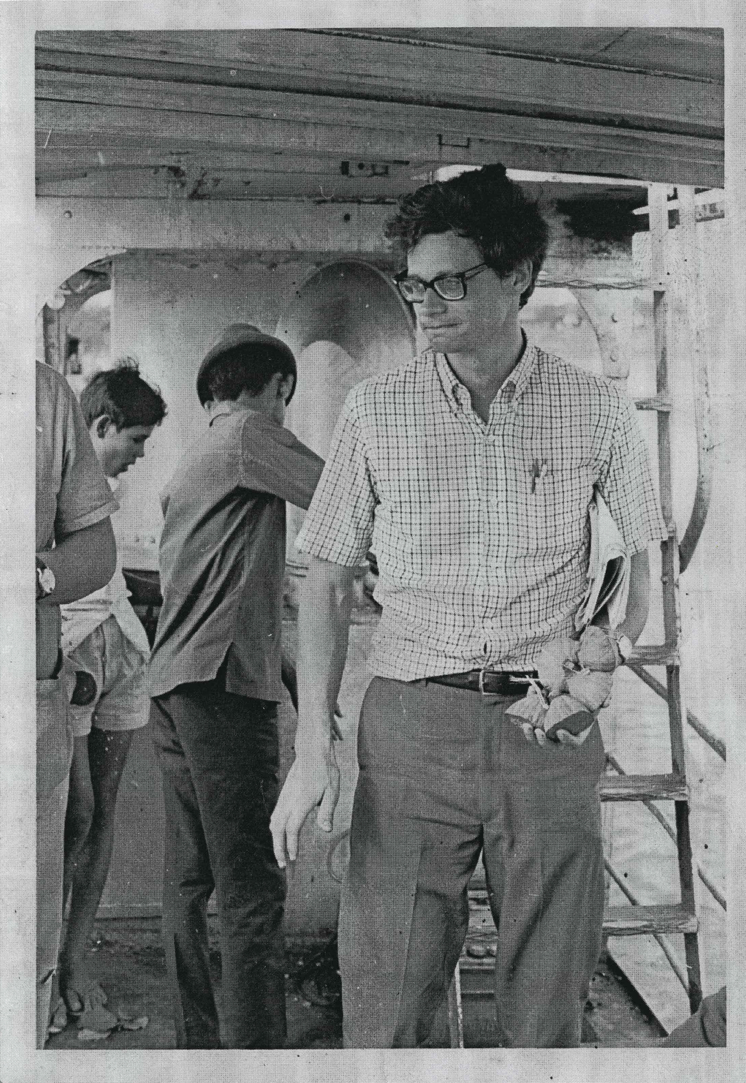 Dan Southerland pictured on a ferry crossing the Mekong River at Neak Leung, south of Phnom Penh, during the war. Southerland says he was staring at the bodies of massacred ethnic Vietnamese civilians, who were often targeted by the Lon Nol regime for suspected sympathies toward the enemy.