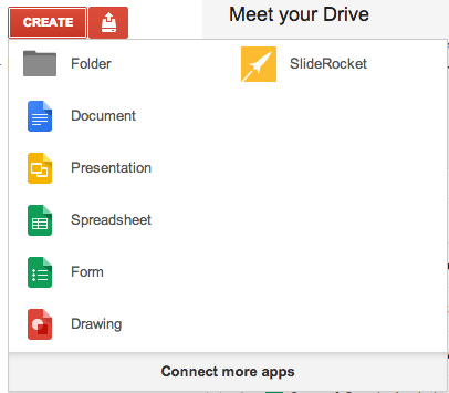 Google Drive / Docs create new document page element.