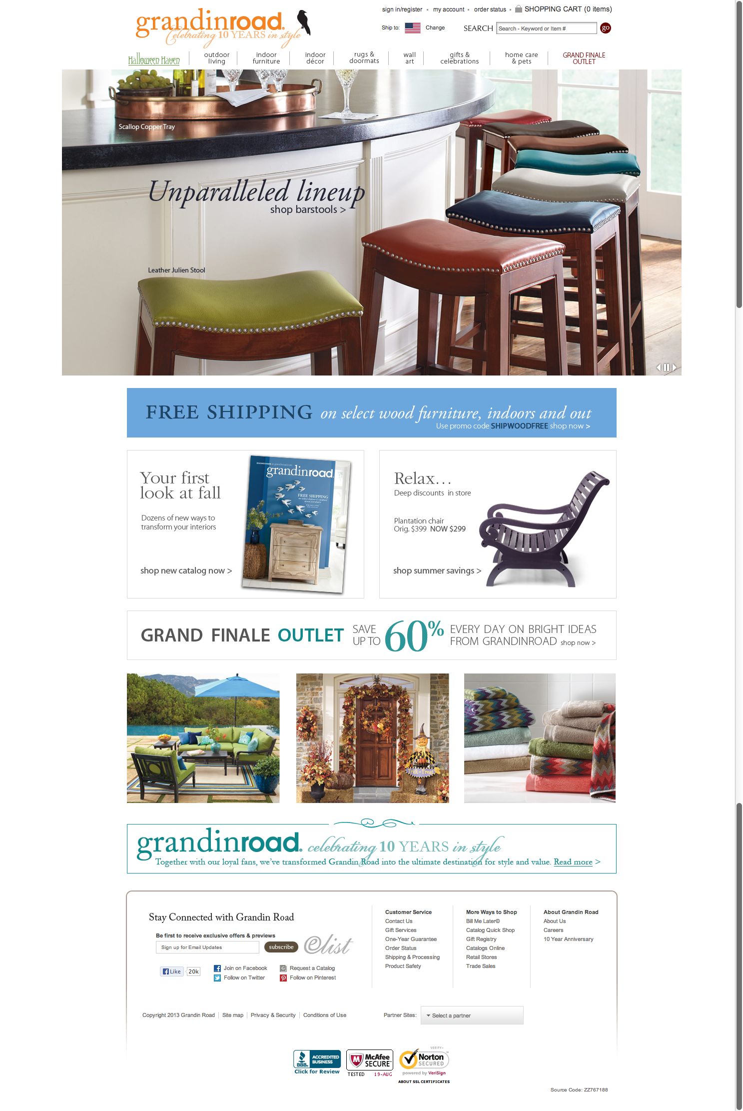 Grandin Road  Indoor Furniture  Wall Art  Halloween Costumes  and Designer Home Decor.png