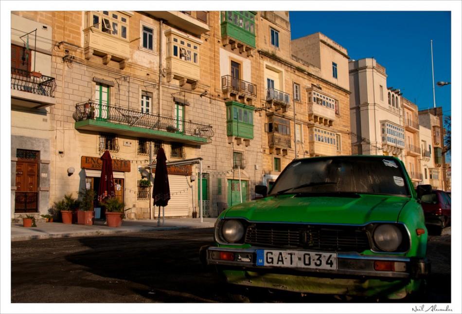 O ld car in Valetta, Malta (Click for larger)