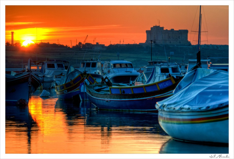 F ISHING BOATS IN BIRZEBUGGIA HARBOUR, MALTA (Click for larger)