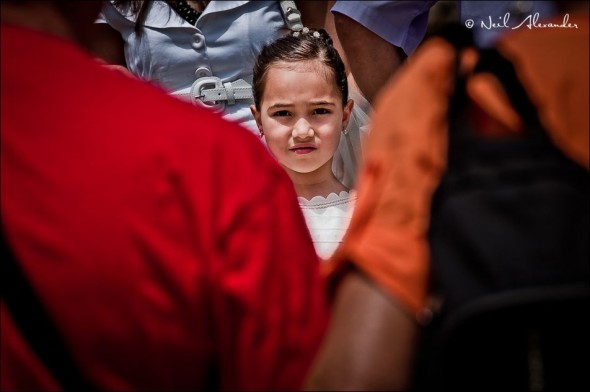 L ittle girl at Marsaxlokk market (Click to view larger)
