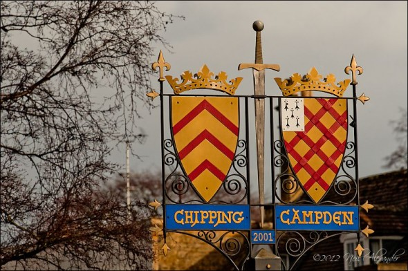 Coats of arms of two renowned Chipping Campden families; the Gloucesters and the Gainsboroughs, Chipping Campden