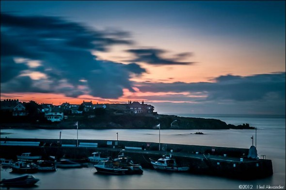 Cemaes Harbour, Anglesey at sunset - 30secs exp f16 ISO200