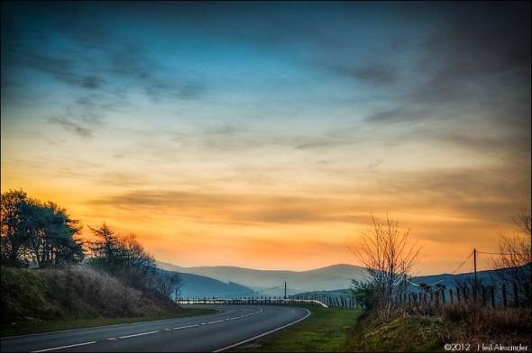 View over Llyn Celyn towards Bala