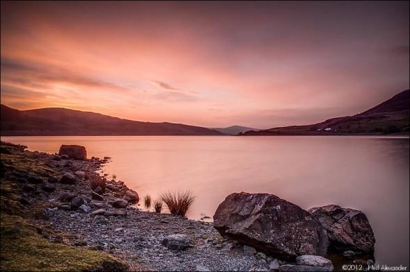 Llyn Celyn at dawn