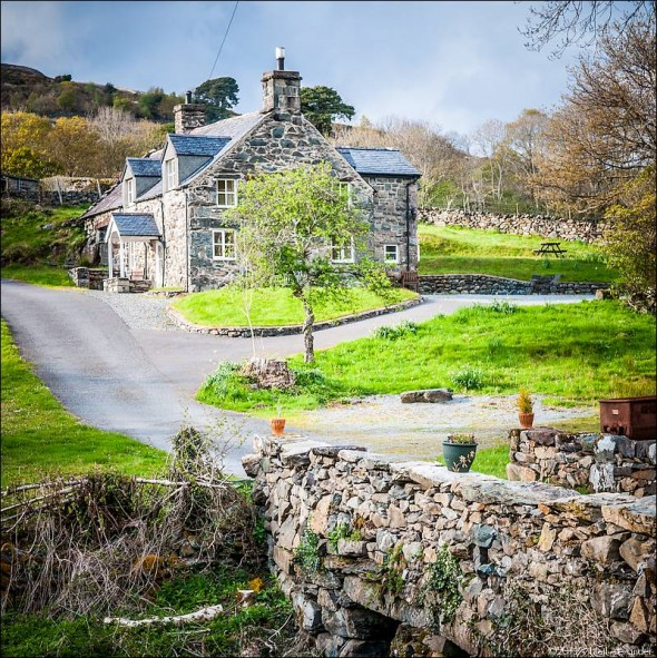 Farmhouse at Llanelltyd, Gwynedd, Wales