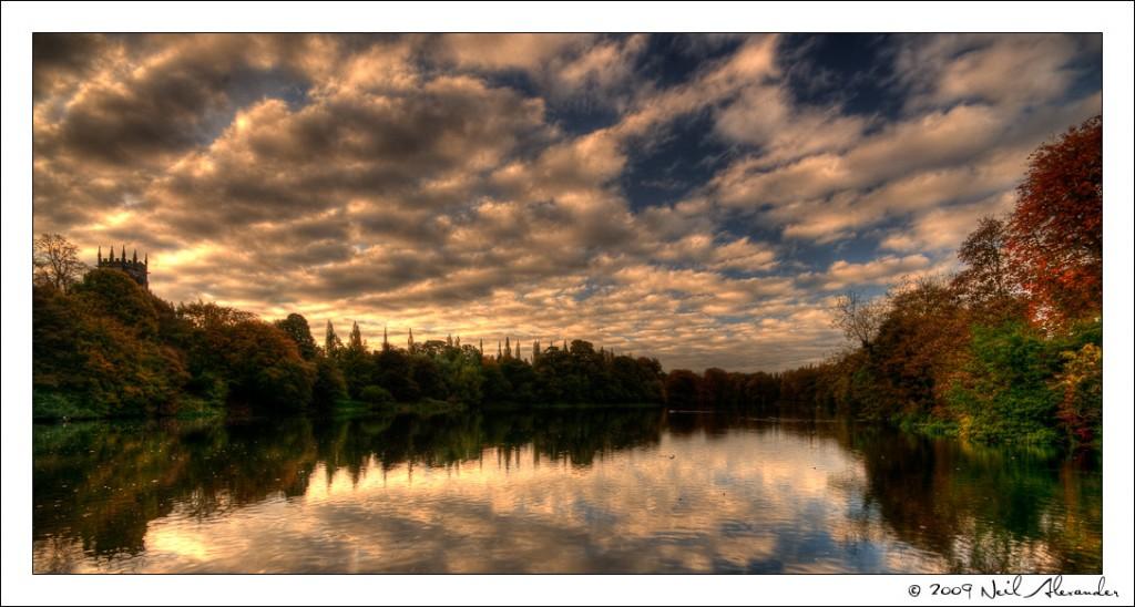 Neil Alexander's Best of 2009 - October - Sunset over Lymm Dam