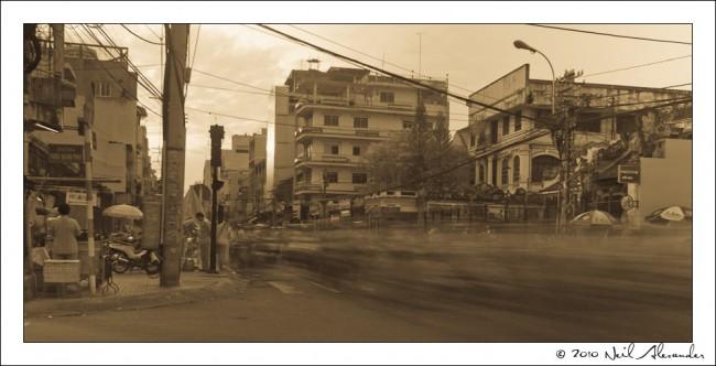M otorbike madness, Saigon by Neil Alexander