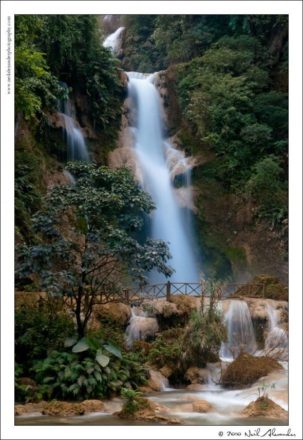 Khounagsi waterfall, Laos by Neil Alexander