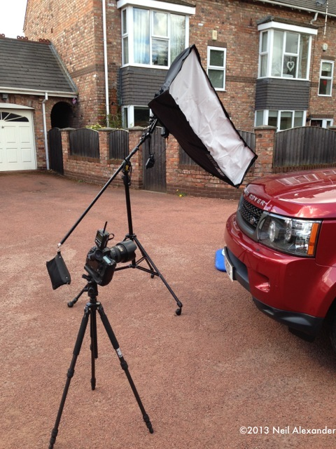 Behind the scenes - Shooting a Range Rover with small flash