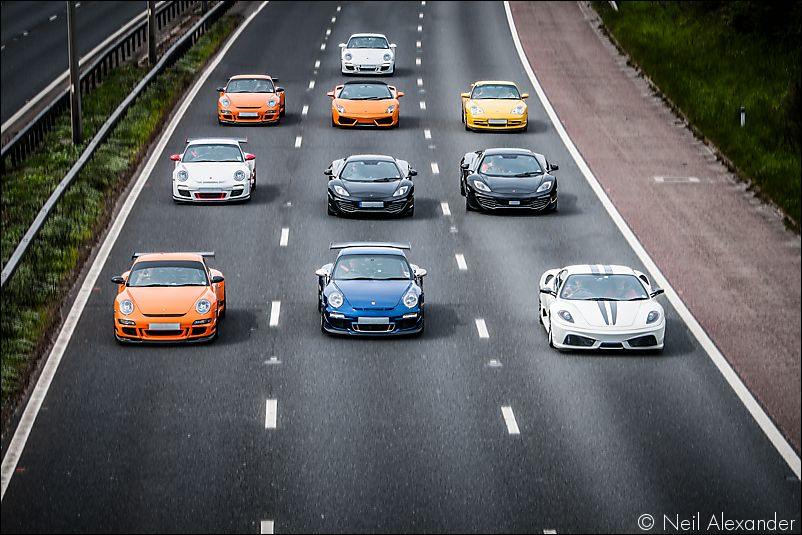 10 supercars in formation on the M6 Neil_Alexander 11.jpg