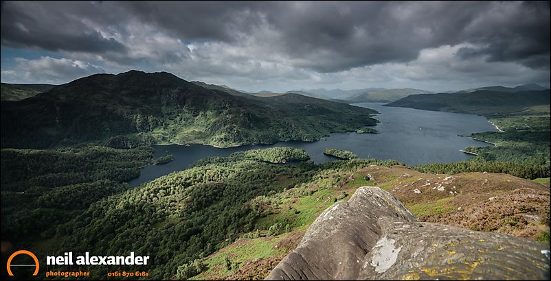 View of Loch Katrine from Ben A'an