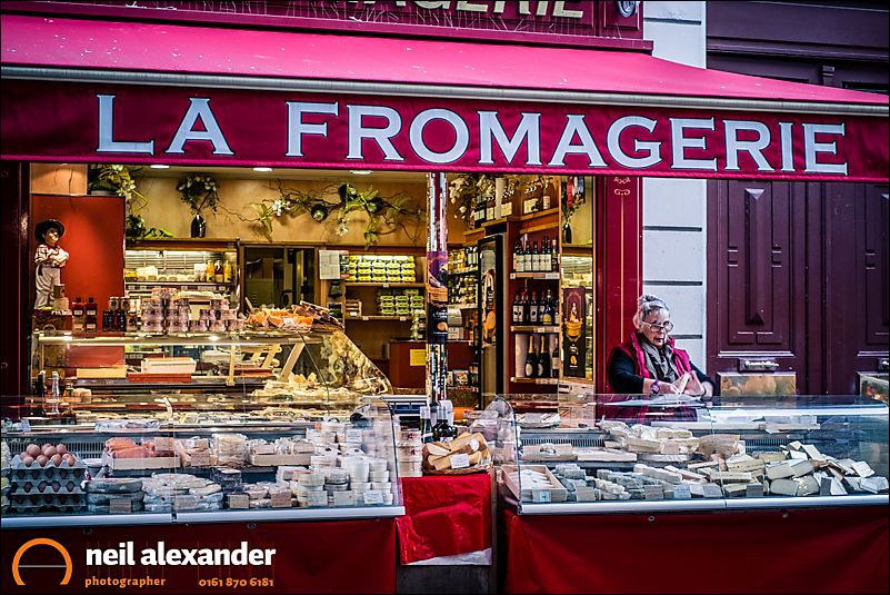La Fromagerie, Rue Bayen, Paris. I stumbled across a street market whilst looking for breakfast one morning. Had I not been geotagging at the time, I'd have had no idea where I had taken this image once I got back home.