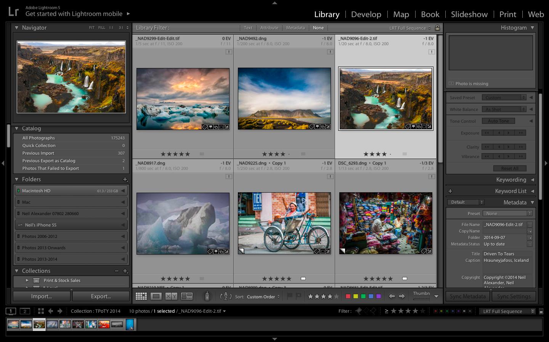 Adobe Lightroom screen shot