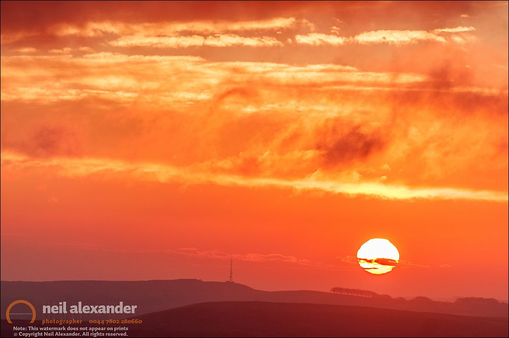 Sunrise over Brampton East Moor