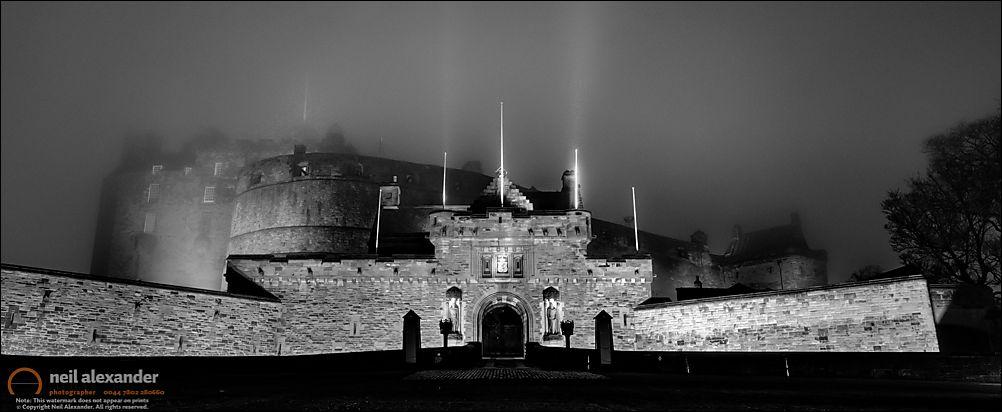 Edinburgh Castle in the mist