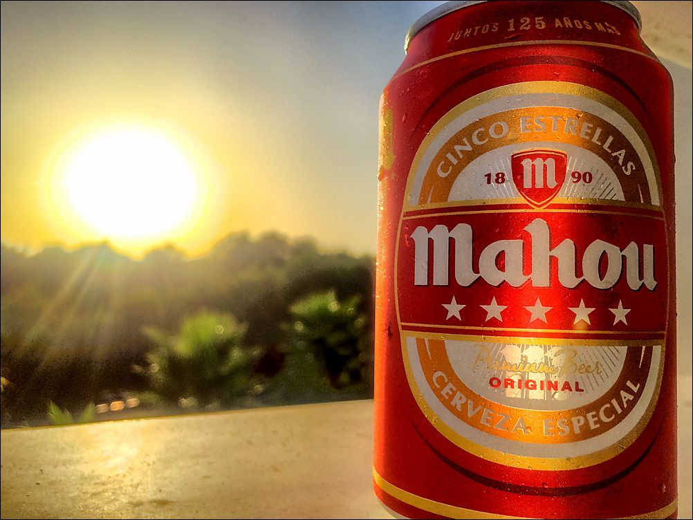 Another beer at sunset