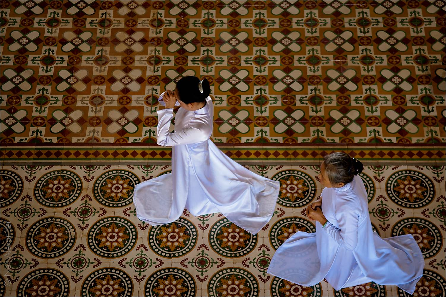 Women worshippers at the Tay Ninh Holy See, Vietnam