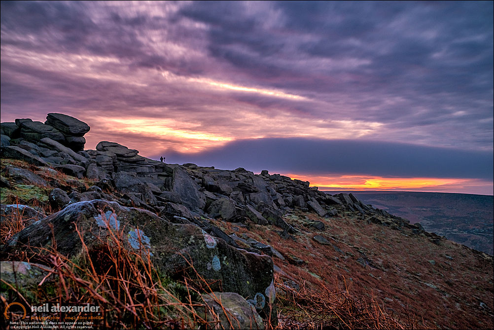 Higger Tor in the High Peaks at dawn