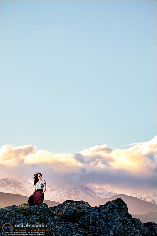 The lovely Liv at Ord, Skye with the Cuillins in the background.Click to view large.