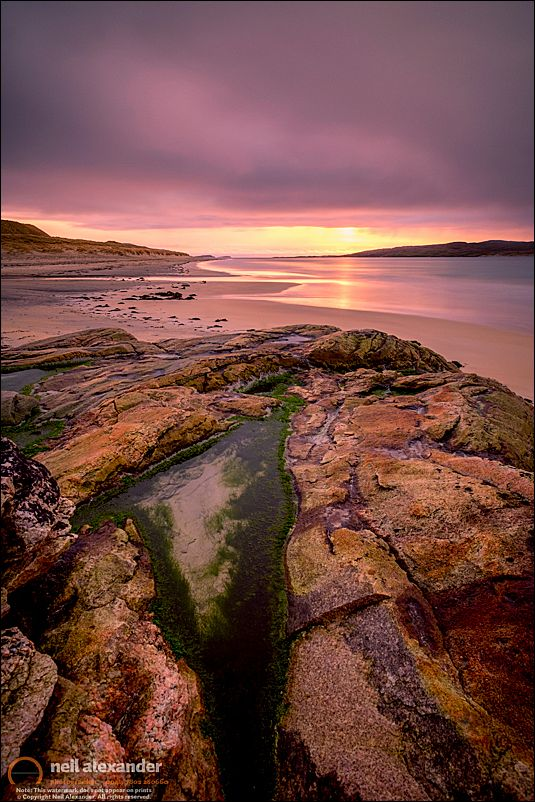 Luskentyre beach, Harris.Click to view large.  Prints here .