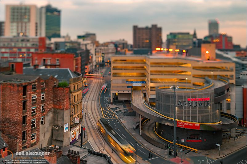 View Down Nicholas Croft Towards Manchester Arndale, Manchester,