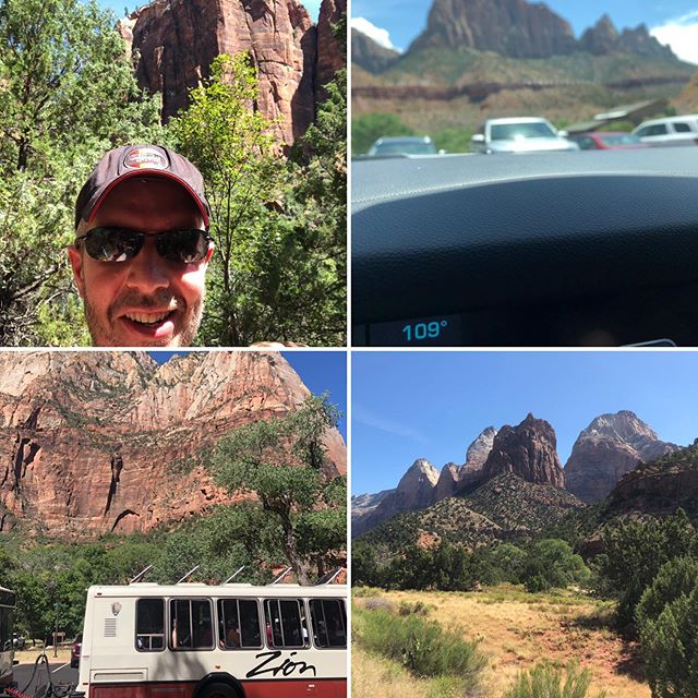 Truly spectacular scenery but crikey it's hot #zionnationalpark #snaps