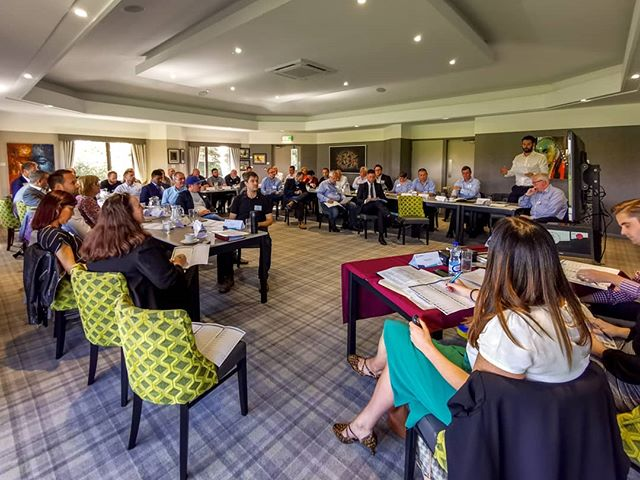 Another fantastic meeting today at @bniairportcity. Over 40 people in the room for Jamie from @seven52creative to present to. #bni #bniairportcity #doingbusiness #manchesterairport