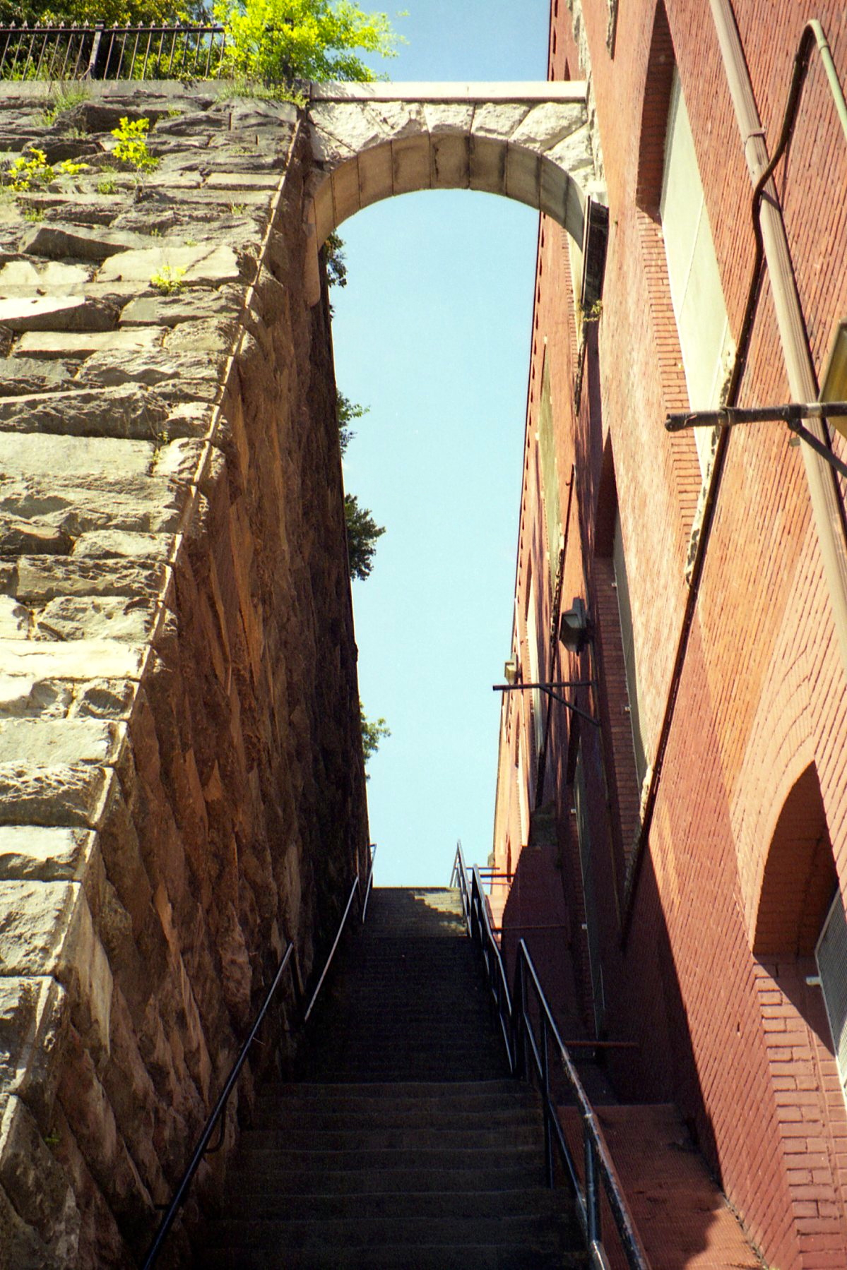 The famous steps from the climax of The Exorcist (photographed in 2000)