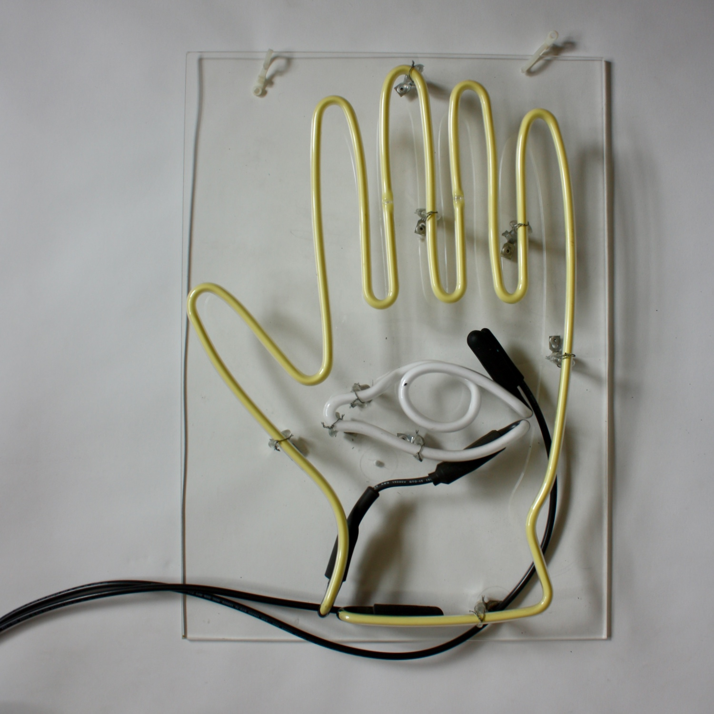 Clear Plexiglass Sign with Remote Transformer