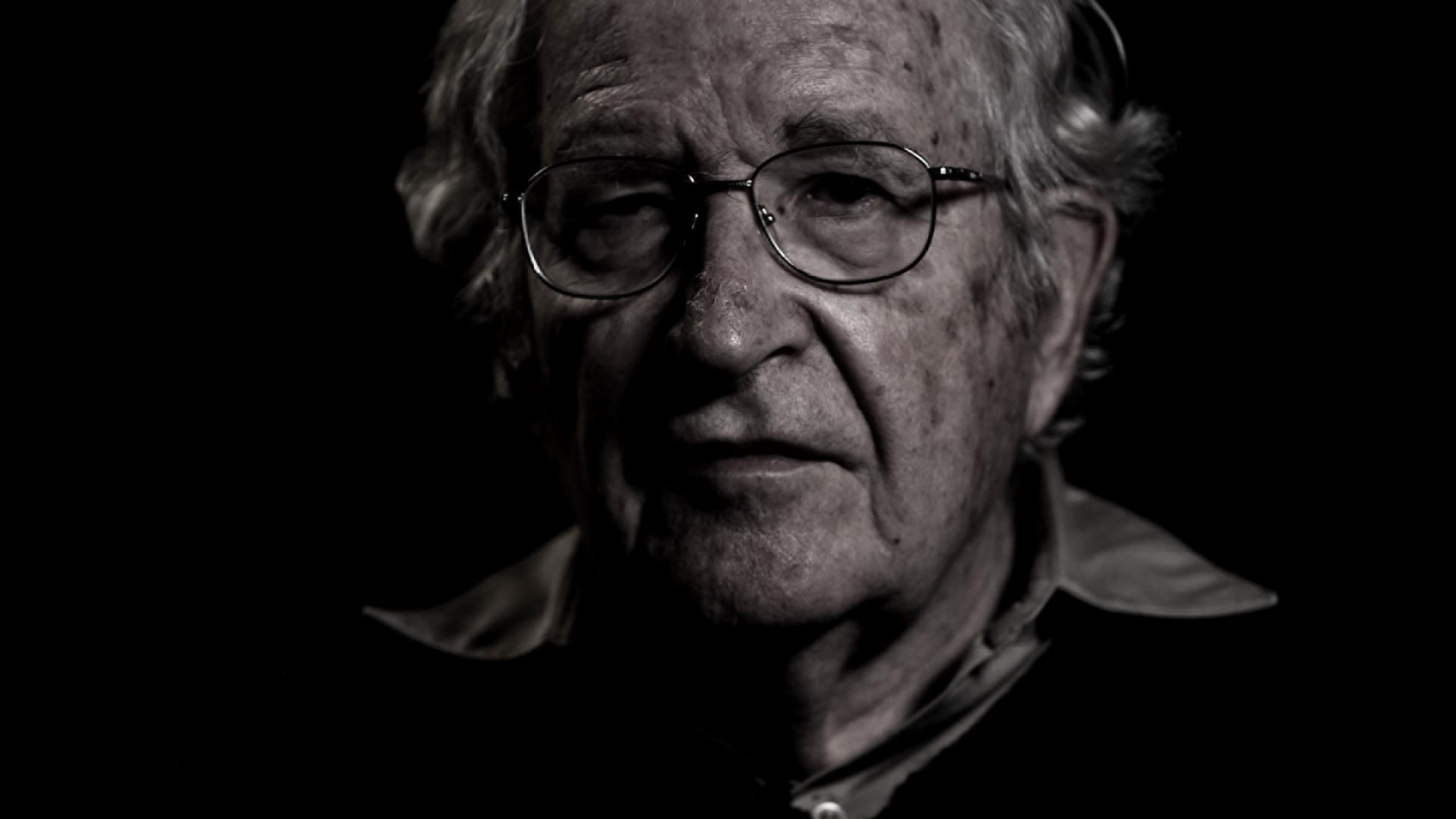 "Still from latest interview with Noam Chomsky, for ""Requiem for the American Dream."" Copyright PF Pictures."