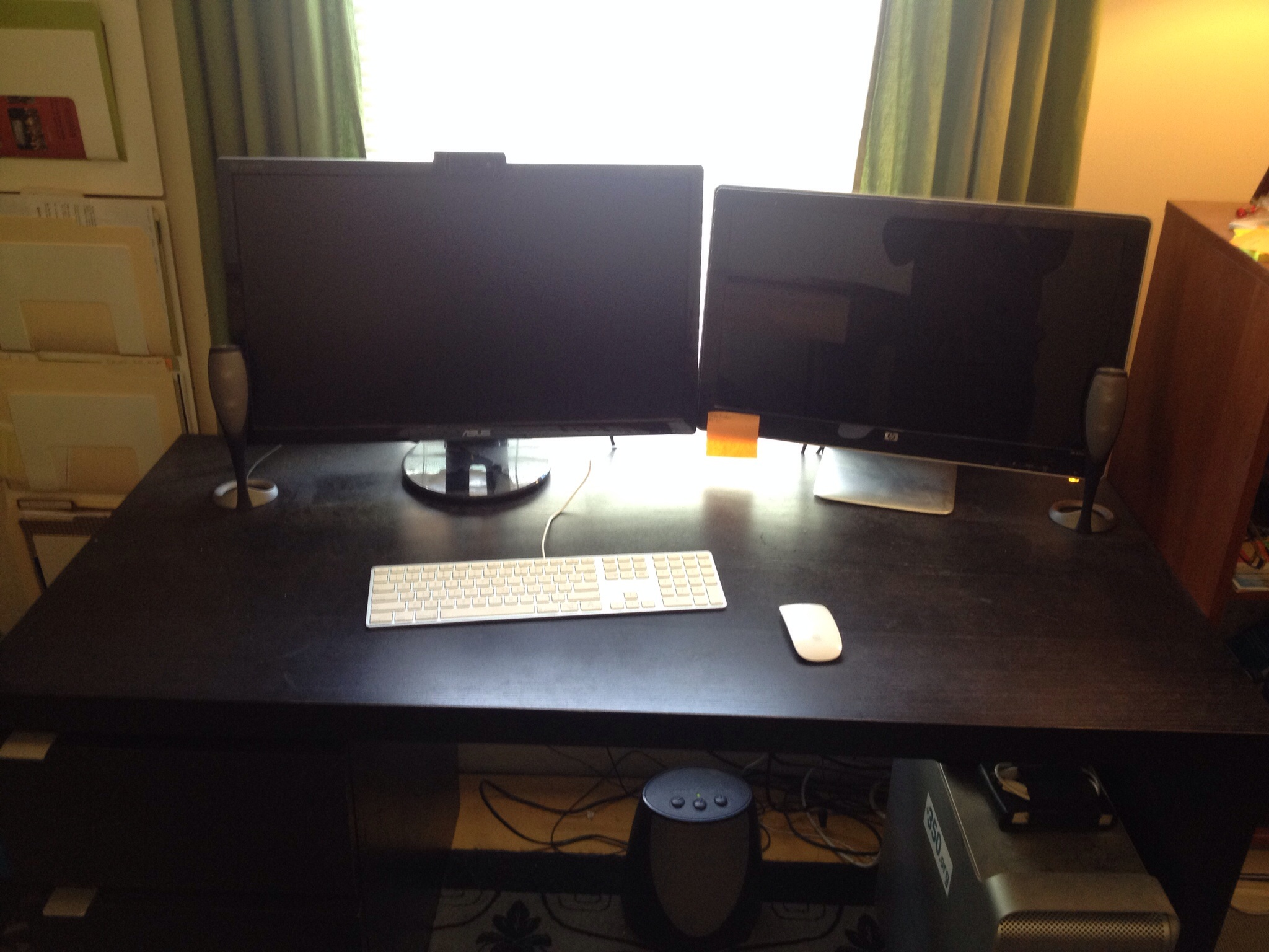 The Before desk setup.
