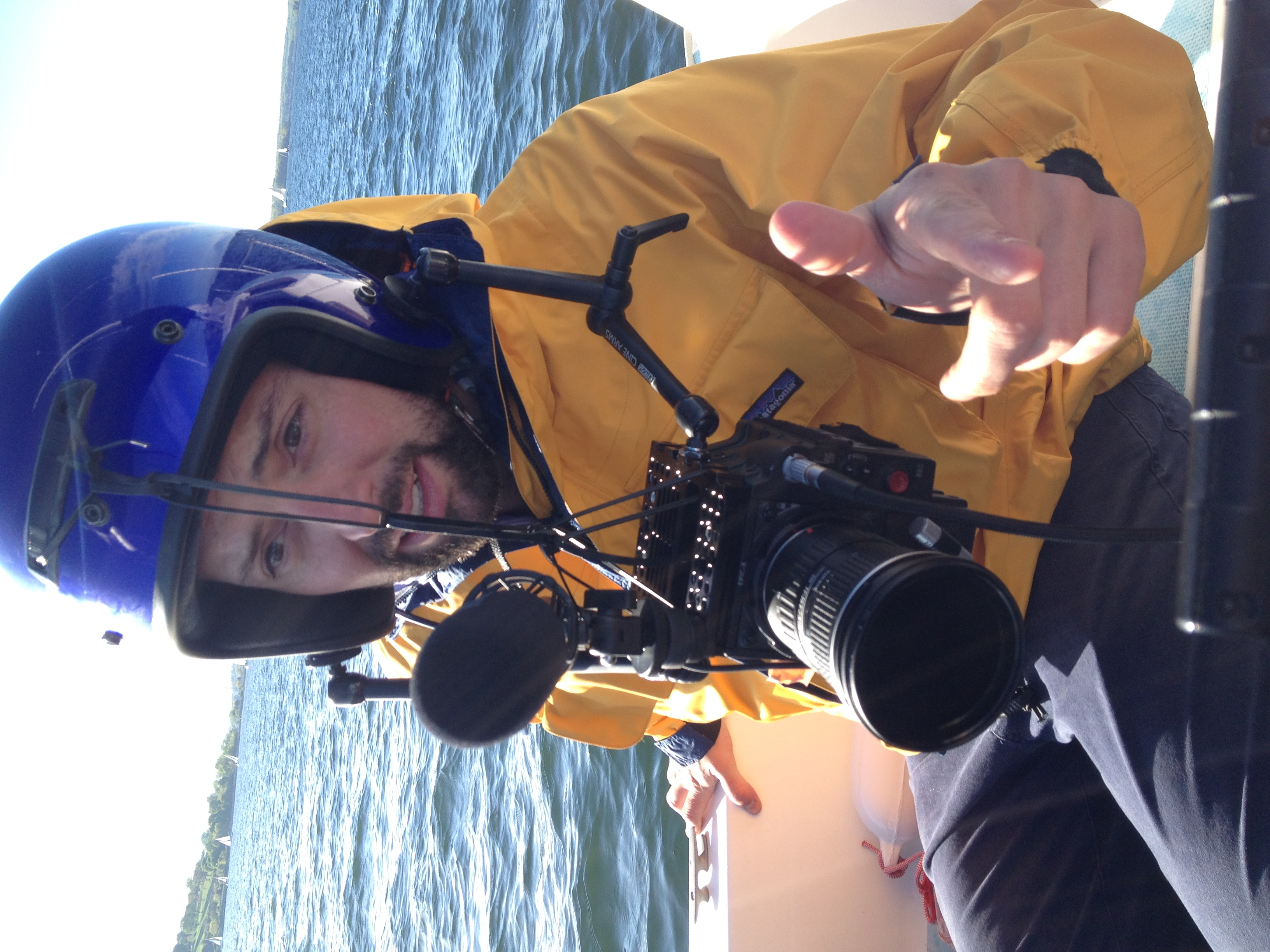 Morgan enjoying the beautiful weather on Casco Bay