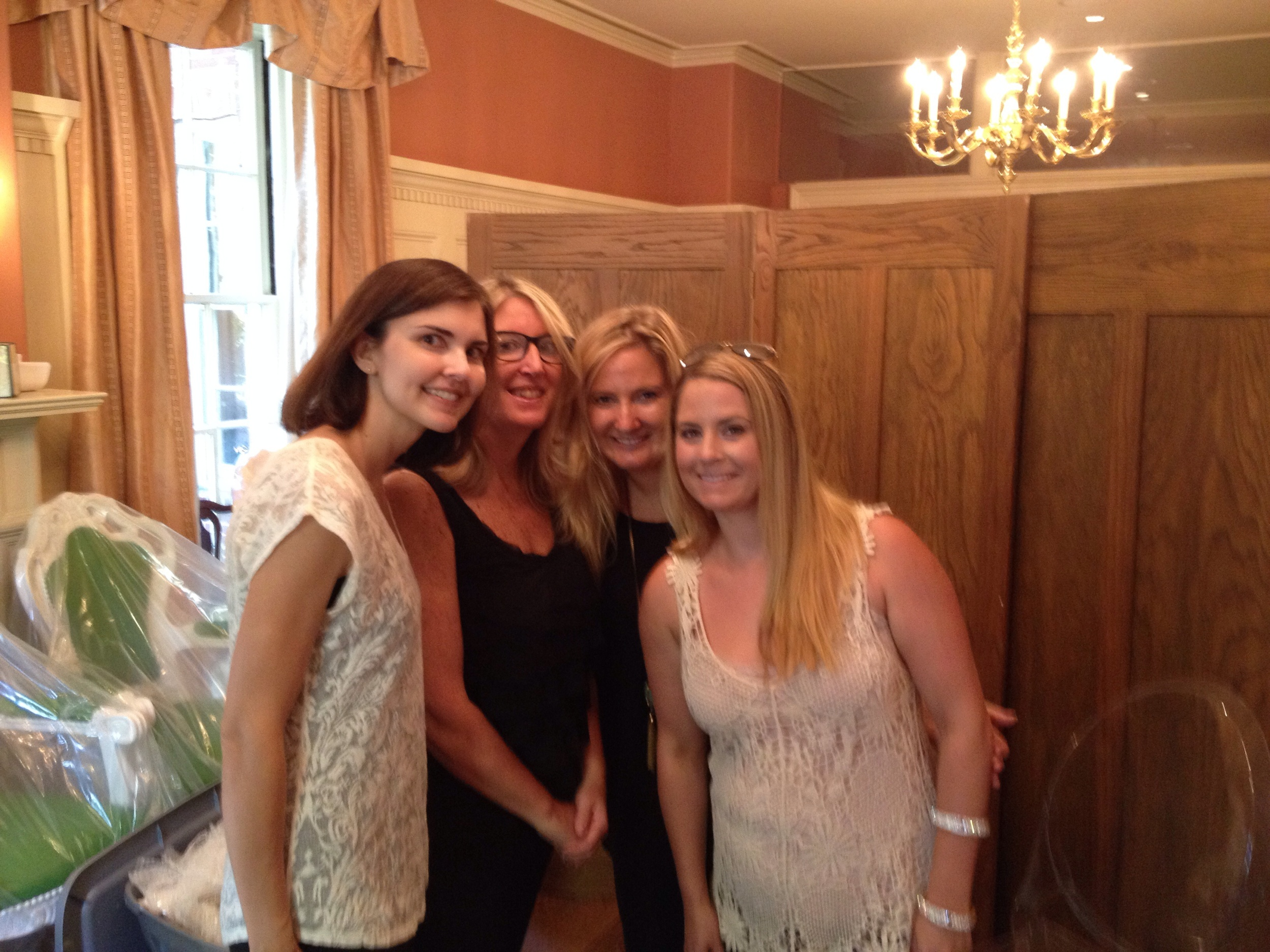 Sarah and Amy from Bliss Celebrations, along with Caitlin and Erica from Reverie Gallery getting ready for the shoot.