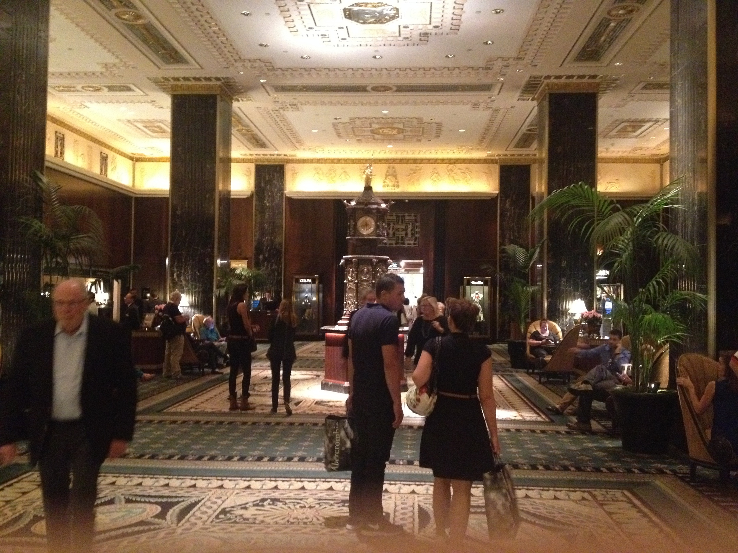 Waldorf lobby.  Different world.  Drinks here start at $18/per.  Yay, Priceline!