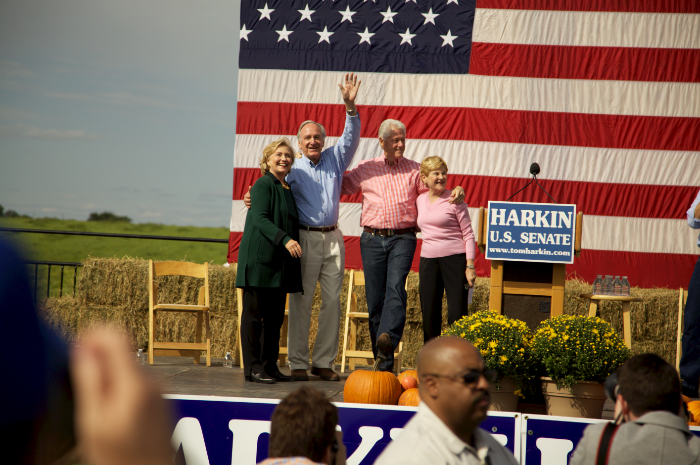 The main event, Hillary, Senator Harkin, Bill, and Mrs. Harkin.  Everyone wanted Hillary to announce, but she didn't.  In fact, her speech really didn't say anything.  Bill was as funny and charming as ever.  The man's got people skills.