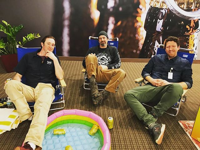 Candid shot, hard at work w Joel, Tom, Liz, @trip.g and @squiersllc. We actually did some great work this week (and had a little fun doing it :)). #samadamsbrewery