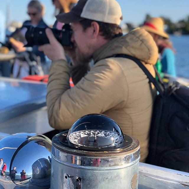 Lots of fun on NH tourism shoot this week with @denniswelshphoto and  @maililafayette this time on the photo side of things. And that's a lot of nervous folks watching a boat to boat camera handoff- 😯 🤞 🙏