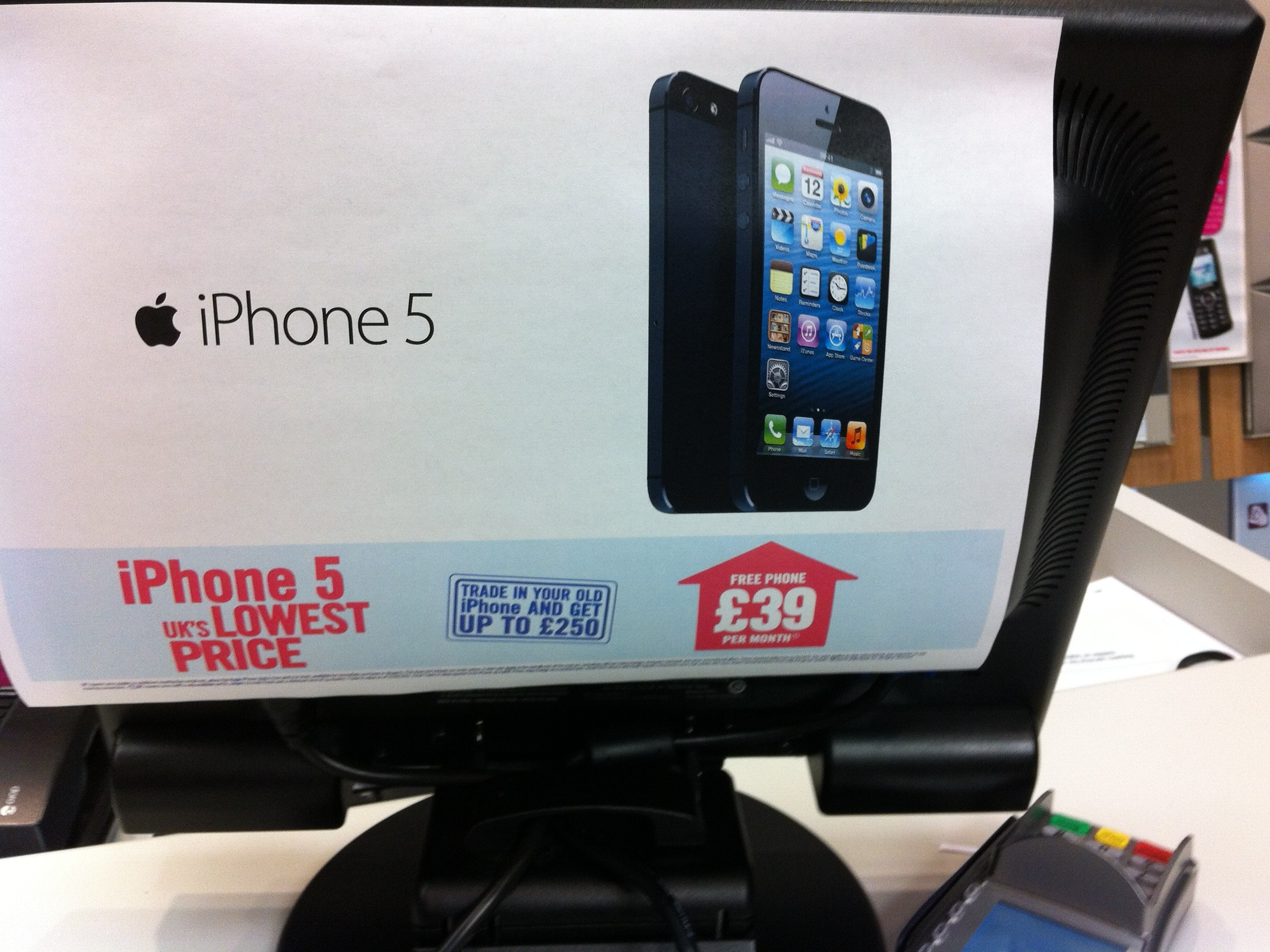 UK's cheapest iPhone 5 price