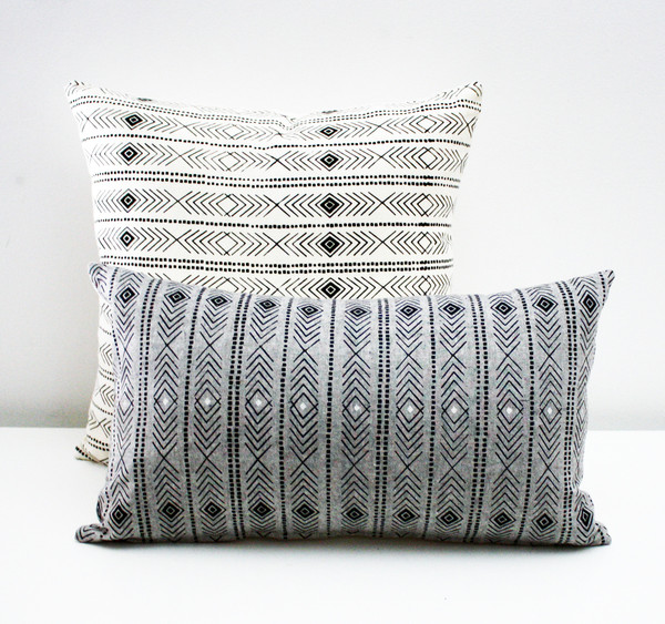 Pillows by  Earth Cadets  based out of Chicago, Illinois. The designs are handprinted using eco-friendly inks on organic and organic/hemp blend fabrics. I love this pattern and actually own a Earth Cadets tote printed with this pattern in a totally different color wave. But, I want this pillow too, obviously.