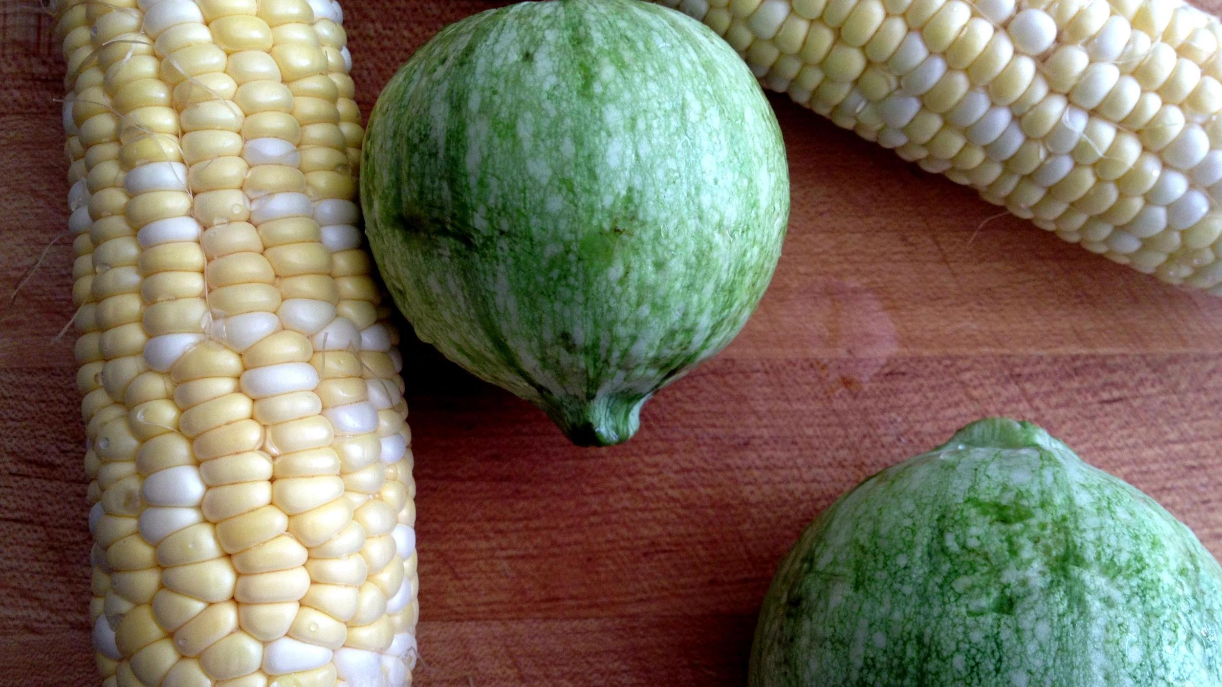 corn, summer squash