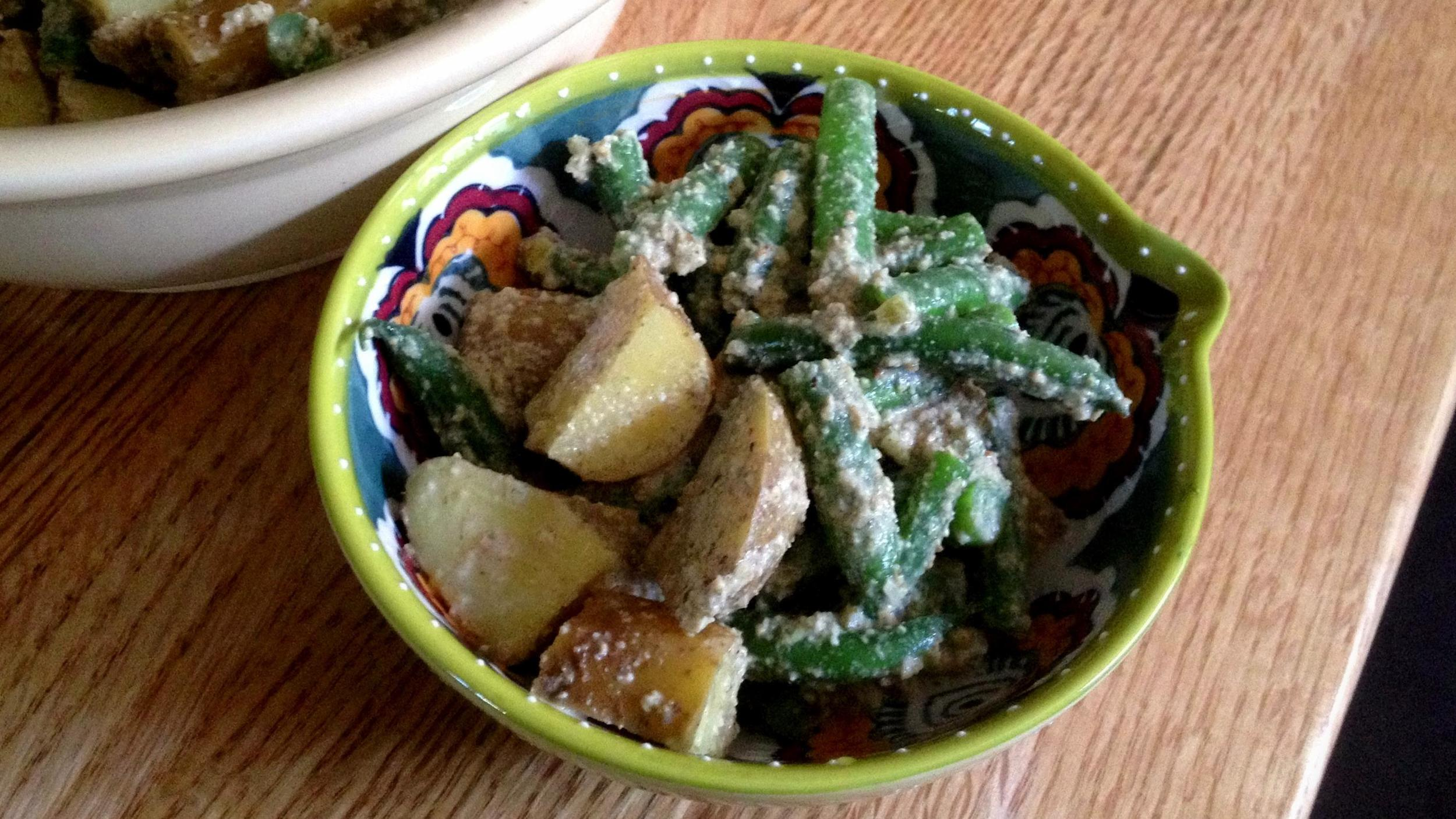 Mayan potato and fresh green bean salad